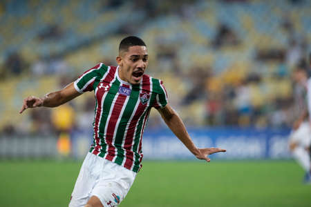 Rio, Brazil - august 22, 2018: Gilberto player in match between Fluminense and Corinthians by the Brazilian Championship in Maracana Stadium
