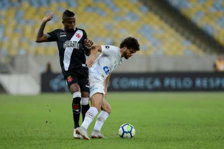 Rio, Brazil - september 01, 2018: Kelvin player h in match between Vasco and Santos by the Brazilian Championship in Maracana Stadium