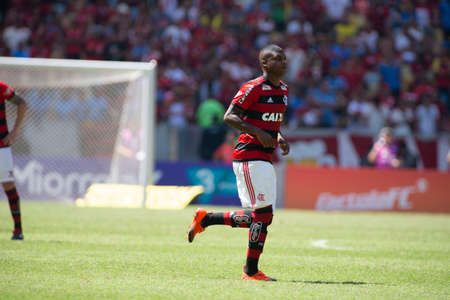 Rio, Brazil - september 02, 2018: player player in match between Flamengo 0 and 1 Ceara by the Brazilian Championship in Maracana Stadium Editorial