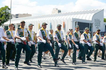 Rio de Janeiro, Brazil - september 07, 2018:  military civic parade celebrating the independence of Brazil.