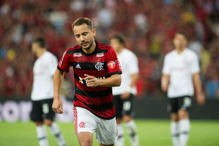 Rio, Brazil - september 12, 2018: Everton Ribeiro player in match between Flamengo and Corinthians by the Brazilian Cup in Maracana Stadium Editorial