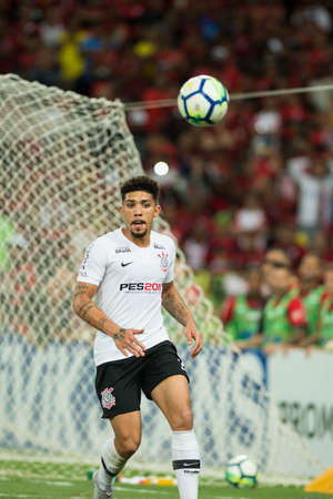 Rio, Brazil - september 12, 2018: Douglas player in match between Flamengo and Corinthians by the Brazilian Cup in Maracana Stadium