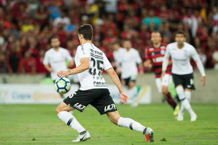Rio, Brazil - september 12, 2018: Danilo Avelar player in match between Flamengo and Corinthians by the Brazilian Cup in Maracana Stadium Editorial