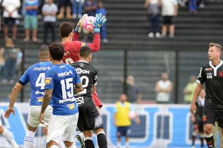 Rio, Brazil - october 14, 2018: Rafael goal keeper in match between Vasco and Cruzeiro by the Brazilian Championship in Sao Januario Stadium
