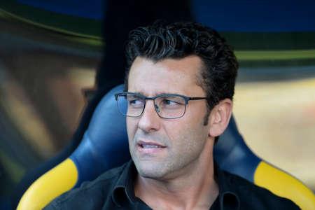 Rio, Brazil - november 03, 2018: Alberto Valentim coach in match between Fluminense and Vasco by the Brazilian Championship in Maracana Stadium Editorial