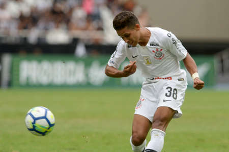 Rio, Brazil - november 04, 2018: Pedrinho player in match between Botafogo and Corinthians by the Brazilian Championship in Nilton Santos Stadium