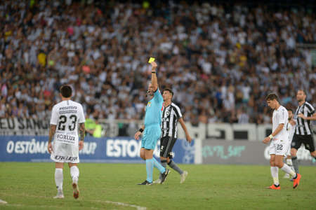 Rio, Brazil - october xx, 2018: Leandro Pedro Vuaden player in match between Botafogo and Corinthians by the Brazilian Championship in Nilton Santos Stadium Editorial