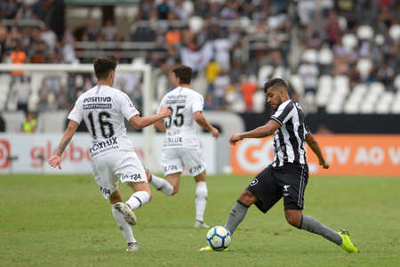 Rio, Brazil - november 04, 2018: Brenner player in match between Botafogo and Corinthians by the Brazilian Championship in Nilton Santos Stadium
