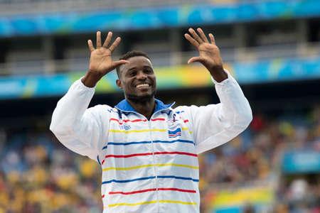 Rio, Brazil - september 09, 2016: BARBOSA Gracelino Tavares (CPV) during mens 400m - T20, in the Rio 2016 Paralympics Victory Ceremony