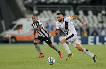 Rio, Brazil - february 23, 2019: Leandro Castan player in match between Botafogo and Vasco by the Carioca Championship in Maracana Stadium