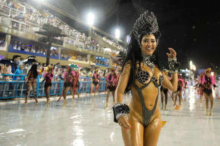 Rio, Brazil - march 01, 2019: Alegria da Zona Sul during the Carnival Samba School Carnival RJ 2019, at Sambodromo