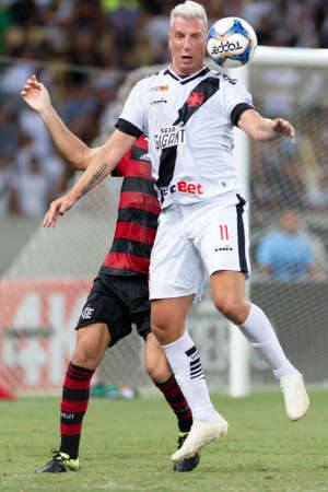 Rio, Brazil - february 9, 2019: Maxi Lopez player in match between Vasco and Flamengo by the Carioca Championship in Maracana Stadium