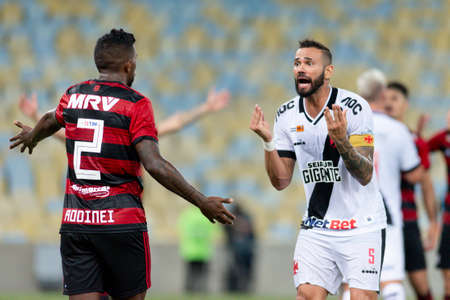 Rio, Brazil - february 9, 2019: Leandro Castan player in match between Vasco and Flamengo by the Carioca Championship in Maracana Stadium