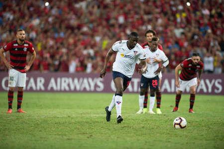Rio, Brazil - march 13, 2019: Cristian Martinez player in match between Flamengo (BRA) and LDU (ECU) by the Libertadores Cup in Maracana Stadium