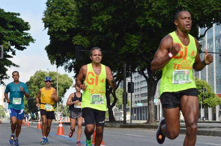 Rio de Janeiro, Brazil - march 24, 2019: street race in the historic city center