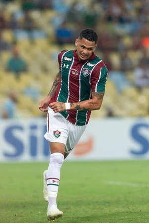 Rio, Brazil - april 28, 2019:  xxxxxxx player n match between Fluminense and Goias by the Brazilian Championship in Maracana Stadium