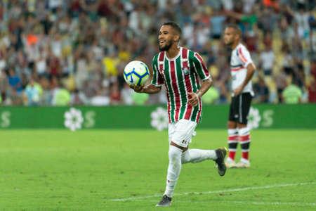 Rio, Brazil - april 17, 2019: Everaldo player in match between Vasco and Flamengo by the Brazilian Cup 2019 in Maracana Stadium Redactioneel