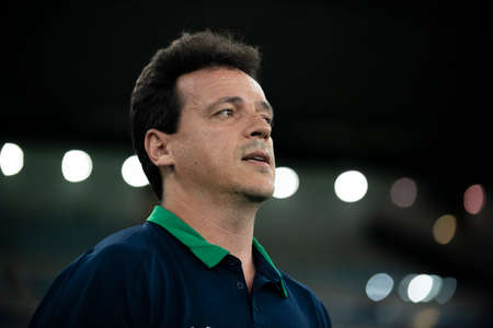 Rio, Brazil - april 17, 2019: Fernando Diniz coach in match between Vasco and Flamengo by the Brazilian Cup 2019 in Maracana Stadium