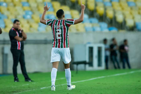 Rio, Brazil - april 17, 2019: Gilberto player in match between Vasco and Flamengo by the Brazilian Cup 2019 in Maracana Stadium