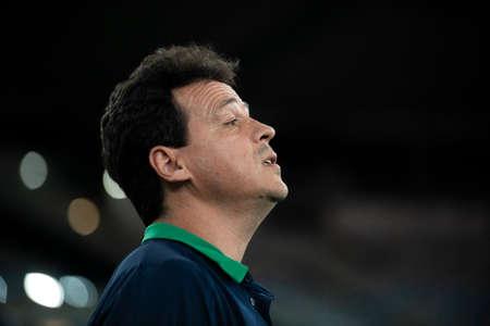 Rio, Brazil - april 17, 2019: Fernando Diniz coach in match between Vasco and Flamengo by the Brazilian Cup 2019 in Maracana Stadium