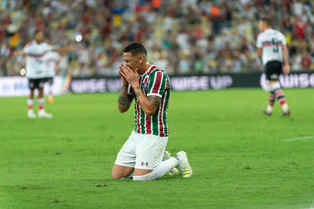 Rio, Brazil - april 17, 2019: Luciano player in match between Vasco and Flamengo by the Brazilian Cup 2019 in Maracana Stadium