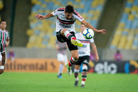 Rio, Brazil - april 17, 2019: William Alves player in match between Vasco and Flamengo by the Brazilian Cup 2019 in Maracana Stadium