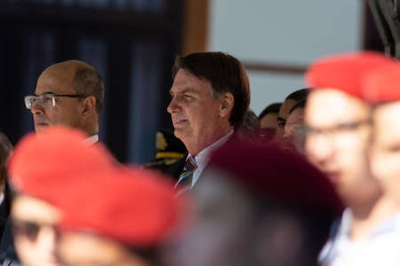 Rio de Janeiro, Brazil - may 06, 2019: Brazilian President Jair Bolsonaro attends the celebration of 130 years of the military college of Rio de Janeiro Redakční