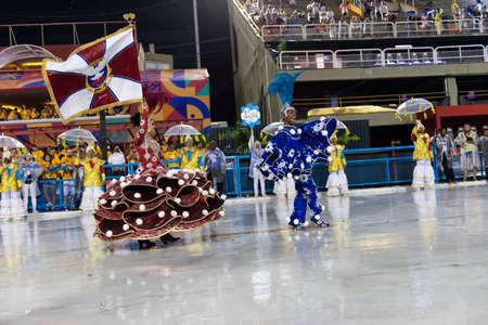 Rio, Brazil - march 01, 2019: Inocentes de Belford Roxo during the Carnival Samba School Carnival RJ 2019, at Sambodromo Editorial