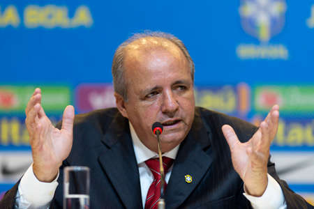 Rio de Janeiro, Brazil - may 16, 2019: coach Oswaldo Alvarez (Vadao) announces the list of 23 players who will represent Brazil in the Womens World Cup Fifa in France 2019