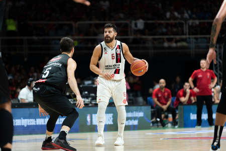 Rio, Brazil - may 19, 2019: Balbi players during Flamengo vs. Franca for the first play-off of the final of the New Basketball Brazil (NBB) at Maracanazinho stadium