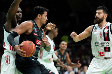 Rio, Brazil - may 19, 2019: Alexey players during Flamengo vs. Franca for the first play-off of the final of the New Basketball Brazil (NBB) at Maracanazinho stadium Sajtókép