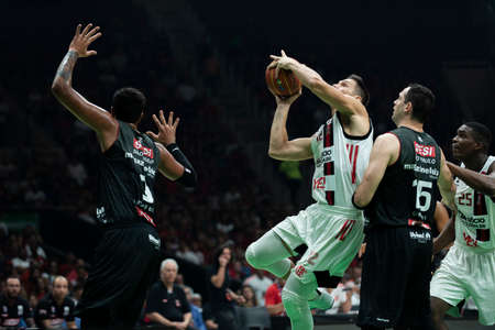 Rio, Brazil - may 19, 2019: Mineiro players during Flamengo vs. Franca for the first play-off of the final of the New Basketball Brazil (NBB) at Maracanazinho stadium Sajtókép