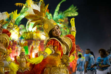Rio, Brazil - march 01, 2019: Inocentes de Belford Roxo during the Carnival Samba School Carnival RJ 2019, at Sambodromo Sajtókép