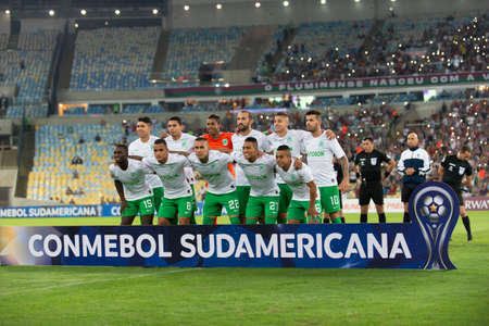 Rio, Brazil - may 23, 2019: match between Fluminense (BRA) and Atletico Nacional (COL) by the Sudamerica Cup in Maracana Stadium