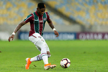 Rio, Brazil - may 23, 2019: Yony Gonzalez player in match between Fluminense (BRA) and Atletico Nacional (COL) by the Sudamerica Cup in Maracana Stadium