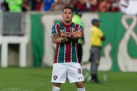 Rio, Brazil - may 23, 2019: Luciano player in match between Fluminense (BRA) and Atletico Nacional (COL) by the Sudamerica Cup in Maracana Stadium