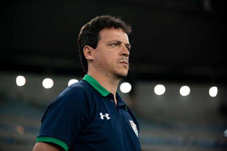 Rio, Brazil - may 23, 2019: Fernando Diniz coach in match between Fluminense (BRA) and Atletico Nacional (COL) by the Sudamerica Cup in Maracana Stadium