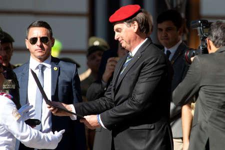 Rio de Janeiro, Brazil - may 06, 2019: Brazilian President Jair Bolsonaro attends the celebration of 130 years of the military college of Rio de Janeiro Editöryel