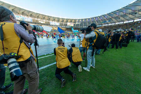 Rio, Brazil - July 7, 2019: Before the start of the 2019 America Cup Grand Final, an exciting closing ceremony at Maracana Stadium.