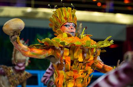 Rio, Brazil - march 02, 2019: Unidos de Bangu during the Carnival Samba School Carnival RJ 2019, at Sambodromo Editorial