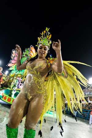 Rio, Brazil - march 02, 2019: Estacio de Sa during the Carnival Samba School Carnival RJ 2019, at Sambodromo