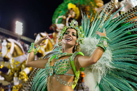 Rio, Brazil - march 03, 2019: Imperio da Tijuca during the Carnival Samba School Carnival RJ 2019, at Sambodromo Editöryel