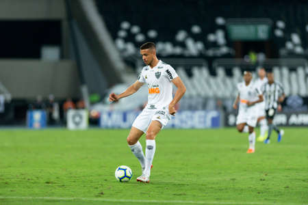 Rio, Brazil - september 08, 2019: match between Botafogo and Atletico-MG by the Brazilian Championship in Nilton Santos Stadium