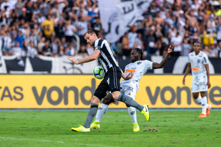 Rio, Brazil - september 08, 2019: Joel Carli player in match between Botafogo and Atletico-MG by the Brazilian Champion ship in Nilton Santos Stadium Imagens