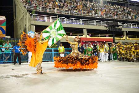 Rio, Brazil - march 02, 2019: Imperio da Tijuca during the Carnival Samba School Carnival RJ