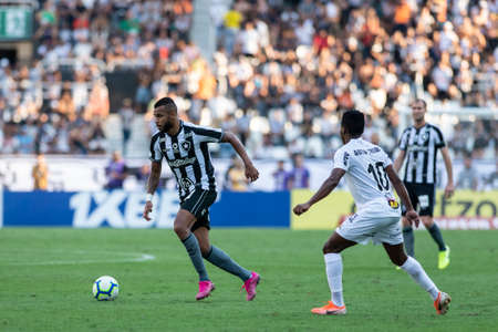 Rio, Brazil - september 08, 2019: Alex Santana player in match between Botafogo and Atletico-MG by the Brazilian Championship in Nilton Santos Stadium