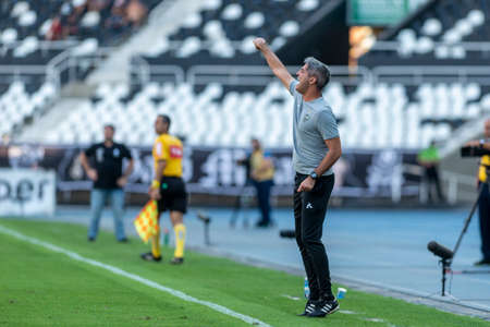 Rio, Brazil - september 08, 2019: Rodrigo Santana coach in match between Botafogo and Atletico-MG by the Brazilian Championship in Nilton Santos Stadium