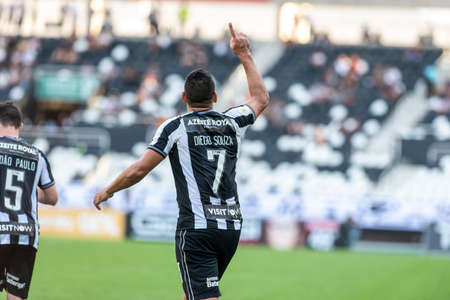 Rio, Brazil - september 08, 2019: Diego Souza player in match between Botafogo and Atletico-MG by the Brazilian Championship in Nilton Santos Stadium