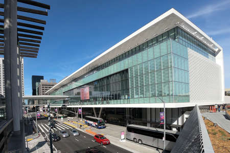San Francisco, USA - june circa, 2019: view from Moscone Center important convention center in the city Editorial