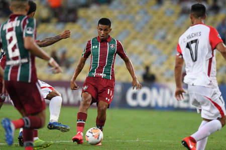 Rio, Brazil - february 04, 2020: Marcos Paulo in match between Fluminense and Union La Calera by the Sudamerica Cup in Maracana Stadium